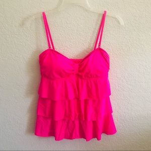 Kenneth Cole Reaction Tiered Ruffle Tankini Top